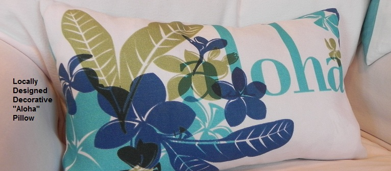 Locally Designed Decorative Aloha Pillows