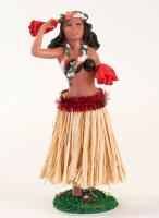 Hula Girl Shaky Doll with Natural Skirt