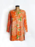 Orange Aloha Beach Cover Up