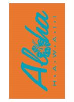 Orange Aloha Blanket Beach Towel