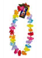 Silk Flower Lei - Multi Color (pack of 12)