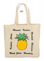 Hawaii Pineapple Canvas Tote