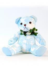 Large Blue Plush Bear Doll
