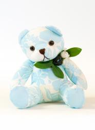 Small Blue Plush Bear Doll