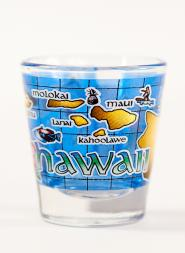 Map of Hawaii Shot Glass
