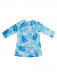 Blue Opihi Palm Tunic