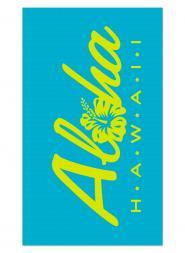 Turquoise Aloha Blanket Beach Towel