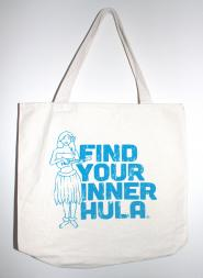 Find Your Inner Hula Canvas Tote Bag - Blue