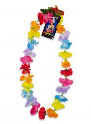 Silk Flower Lei - Multi Color (pack of 12)