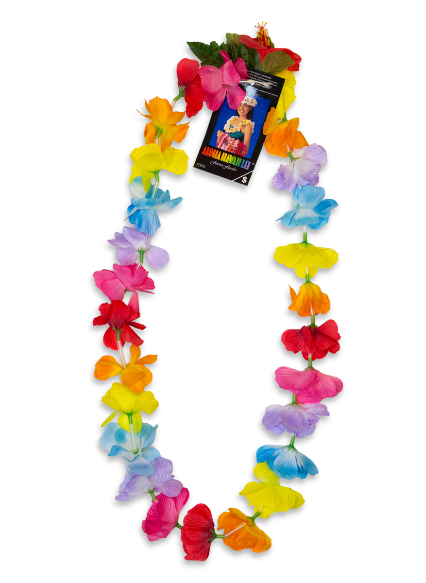 Silk Flower Lei Multi Color Pack Of 12 Shops Of Hawaii